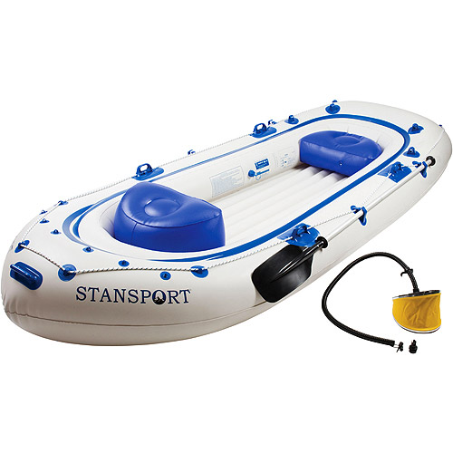 Stansport Kenai 11- 6 Person River Boat with Pump and Oars #422