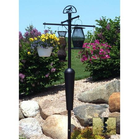 Squirrel Stopper Deluxe Black Bird Feeder Pole Set W
