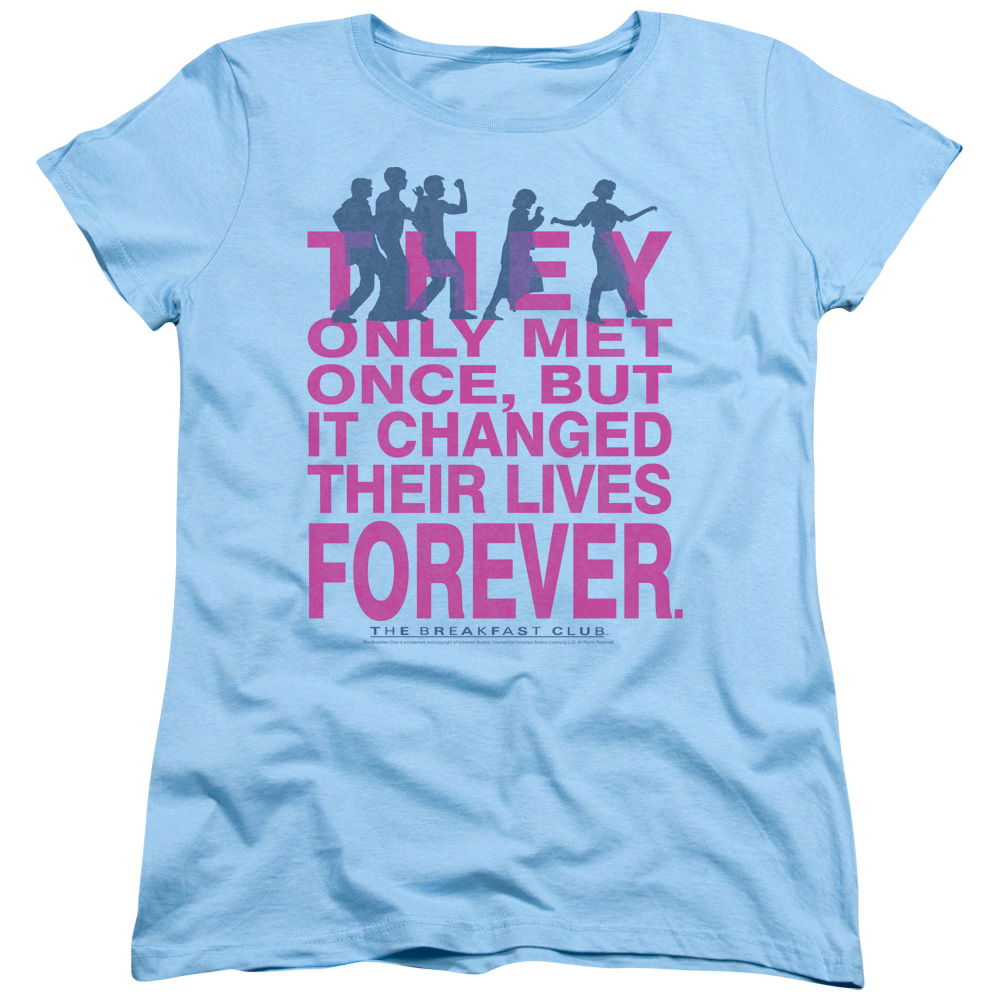 The Breakfast Club Forever Womens Short Sleeve Shirt