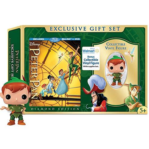 Peter Pan (Blu-ray + DVD + Collectible Vinyl Figure) (Walmart Exclusive) (Anamorphic Widescreen)