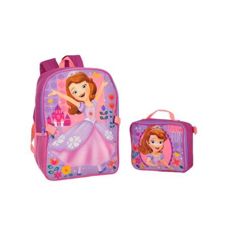 580544ea9e9 Sofia the First - Disney Princess Backpack with Lunchbox - Walmart.com