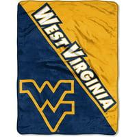 "NCAA West Virginia Mountaineers ""Halftone"" 46""x 60"" Micro Raschel Throw"