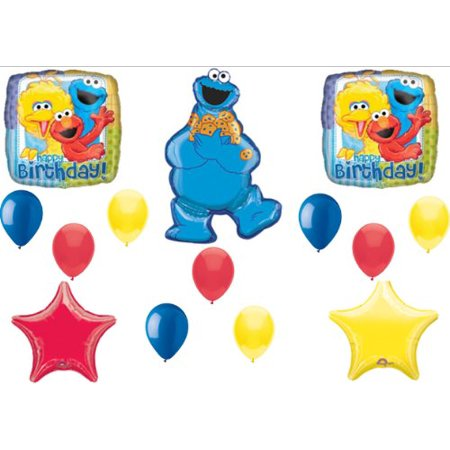 Cookie Monster Elmo Sesame Street Birthday Party Balloons Decorations Supplies