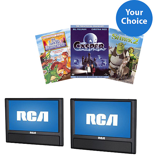 Dual Screen Mobile DVD Player Bundle with *DVD*