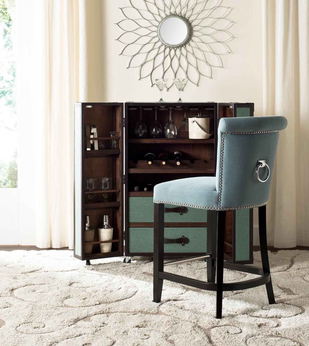 Amazing Safavieh Addo Classic Glam Ring Counter Stool With Footrest Inzonedesignstudio Interior Chair Design Inzonedesignstudiocom