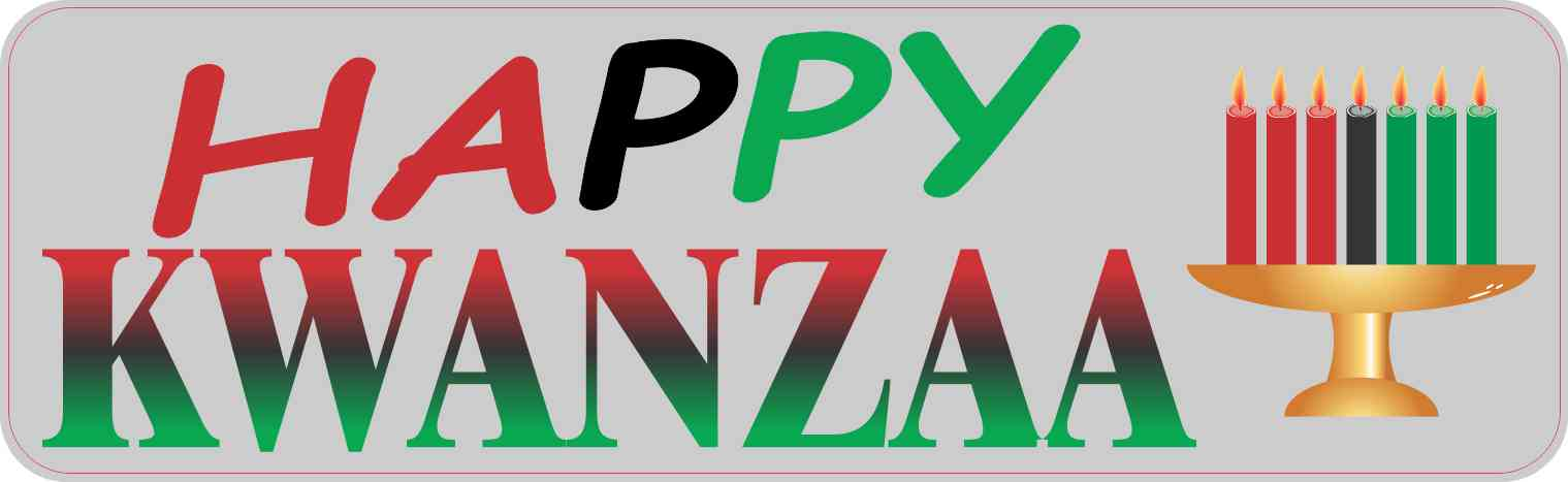 10in x 3in Happy Kwanzaa Magnet by StickerTalk®