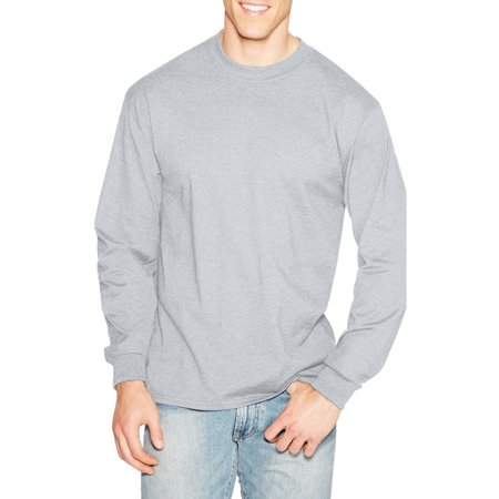 Hanes Mens Premium Beefy-T Cotton Long Sleeve T-Shirt - Walmart.com