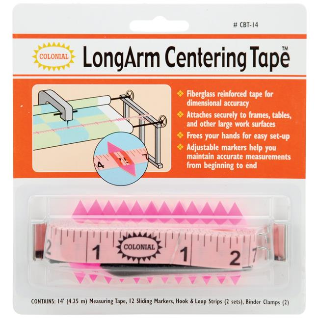 Colonial Needle CBT-14 LongArm Centering Tape - 14 ft