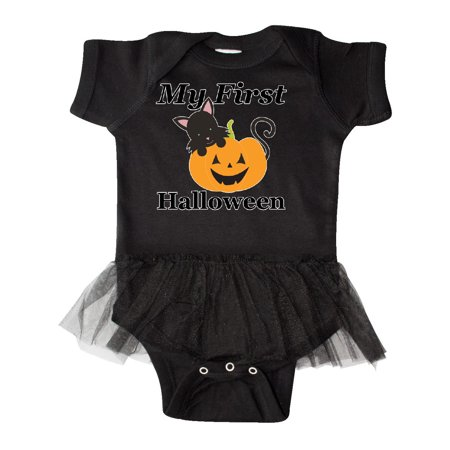 My First Halloween Infant Tutu Bodysuit - 1st Halloween Onesie