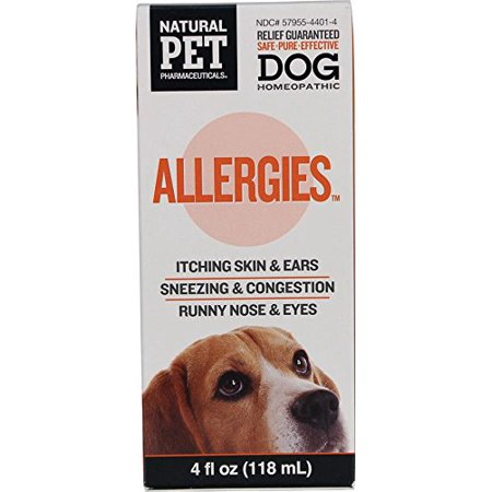 Brand New Natural Pet Pharmaceuticals Allergies Homeopathic 4 Oz  High Quality
