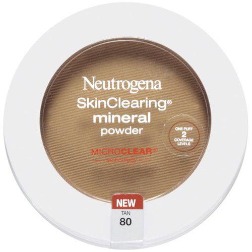 Neutrogena Skinclearing Mineral Powder, Tan 80, 0.38 oz