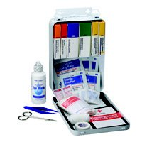 First Aid Only 221-U FAO First Aid Kit, 94 pc Case, 9-1 16 in W x 6-5 16 in L x 2-3 8 in H by First Aid Only