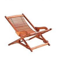 Pemberly Row Hardwood Chaise Lounge