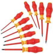 Assorted Insulated Screwdriver Set,  Multicomponent,  Number of Pieces: 10
