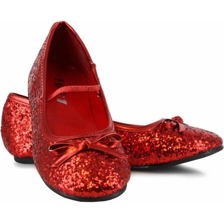 Sparkle Ballerina Red Shoes Girls' Child Halloween Costume Accessory (Red Costume Shoes)