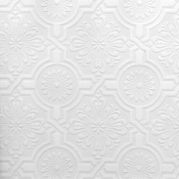 Brewster Nazareth Ornate Tiles Paintable Wallpaper