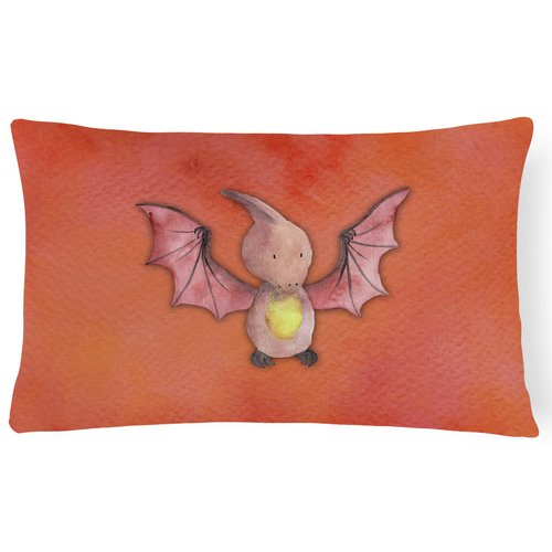 Zoomie Kids Sandra Pterodactyl Watercolor Lumbar Pillow
