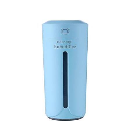 Car Diffuser Portable Mini Cool Mist Humidifier with led Light Car Cup