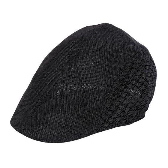 Men Women' British style Universal Golf Hat Boys Girls Hats Hollow Duckbill  Caps