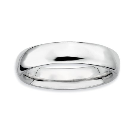 Sterling Silver Stackable Expressions Rhodium Polished Ring Size 7 - image 1 de 3