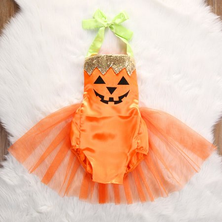 Halloween Fancy Dress Party London 2019 (Hot Halloween Baby Girl Party Costume Romper Bodysuit Fancy Tutu Dress Skirt)