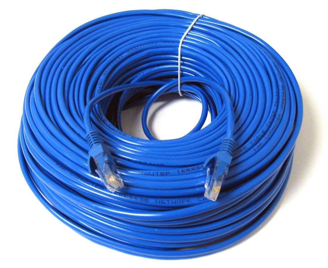 Konex Tm Ethernet Cable Cat6 200ft Blue Network Wire Cat 6 Patch Wiring Cord Internet With Snagless Rj45 Connectors