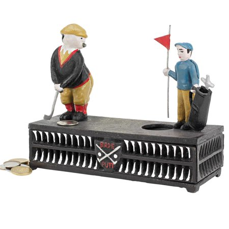 Mechanical Bank Collectors (The Golfer: This Putt is for a Birdie Collectors' Die-Cast Iron Mechanical Coin)