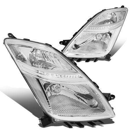For 2006 to 2009 toyota Prius Headlight Chrome Housing Clear Corner Headlamp 07 08 XW20 Hybrid 2nd Gen Left+Right