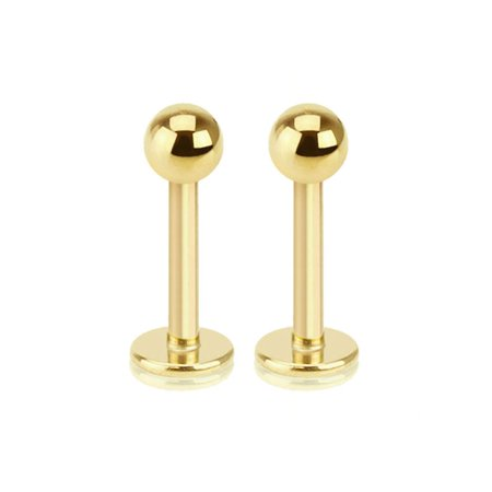 Gold Labret stud monreo With Ball 16g 5/16