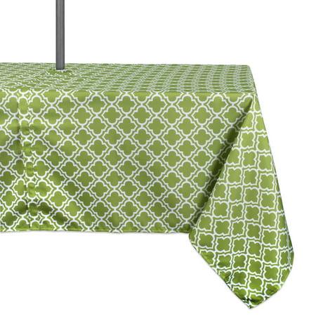 Design Imports Casual Rectangle Lattice Umbrella Outdoor Tablecloth, 84