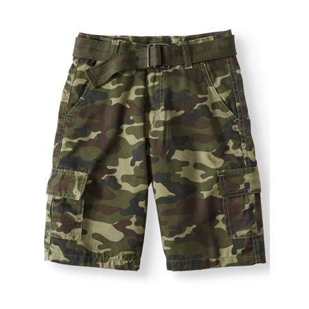 Road Block Belted Camo Cargo Shorts (Big Boys)