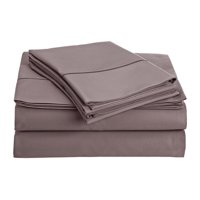 CHATEAU HOME COLLECTION 800-Thread-Count Egyptian Cotton Deep Pocket Sateen Weave Queen Sheet Set, Lilac