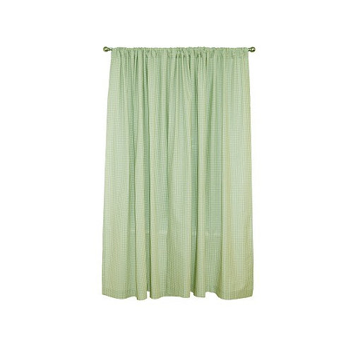 Tadpoles Tadpoles Classic 84'' Sage Gingham Rod Pocket Curtain Panels (Set of 2)