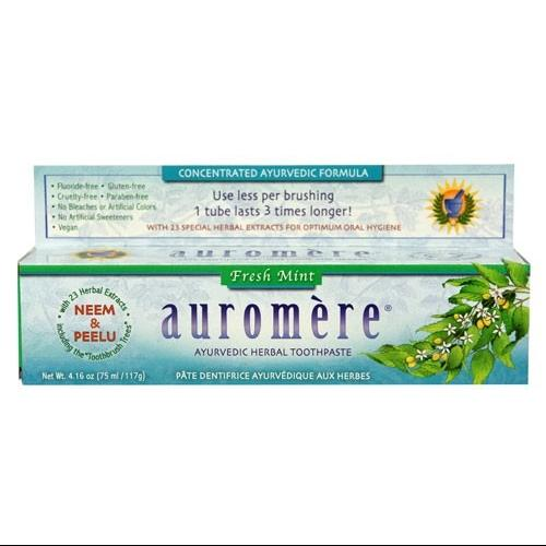Toothpaste-Freshmint Auromere Ayurvedic Products 4.16 oz Paste