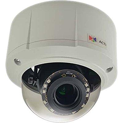 acti kcm-7111 4mp ip day/night vandal-proof rugged dome camera (poe), white