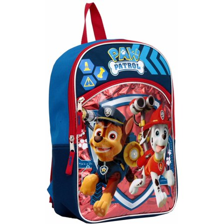 64c4f1e1a0 Paw Patrol - Chase and Marshall Light up 14 Backpack - Walmart.com