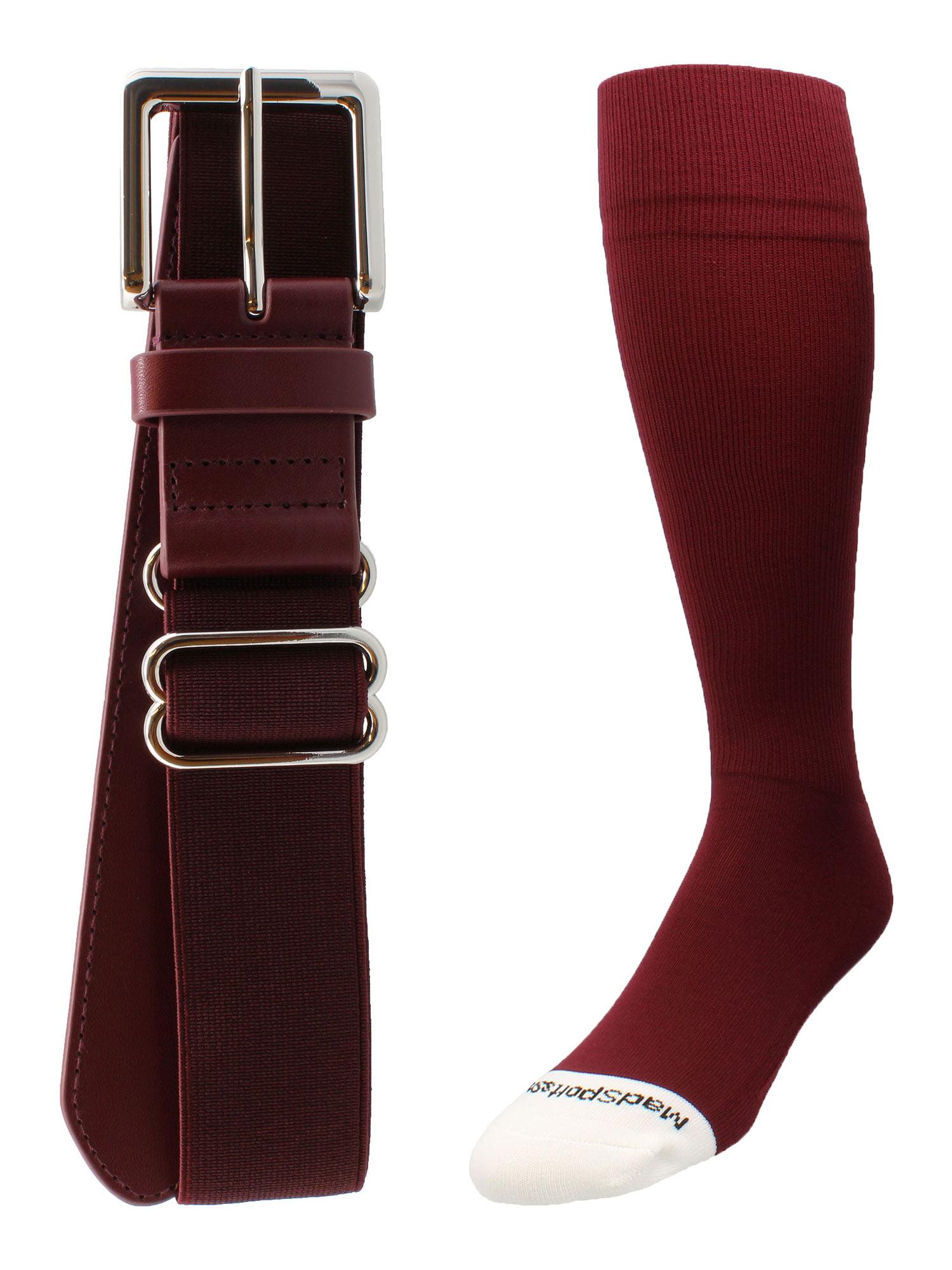 Baseball//Softball Adjustable Belt /& Sock Combo Youth /& Adult, 16 Colors