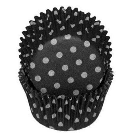 Black & White Polka Dot - Baking Cupcake Liners - 50 - Black Cupcake Liners