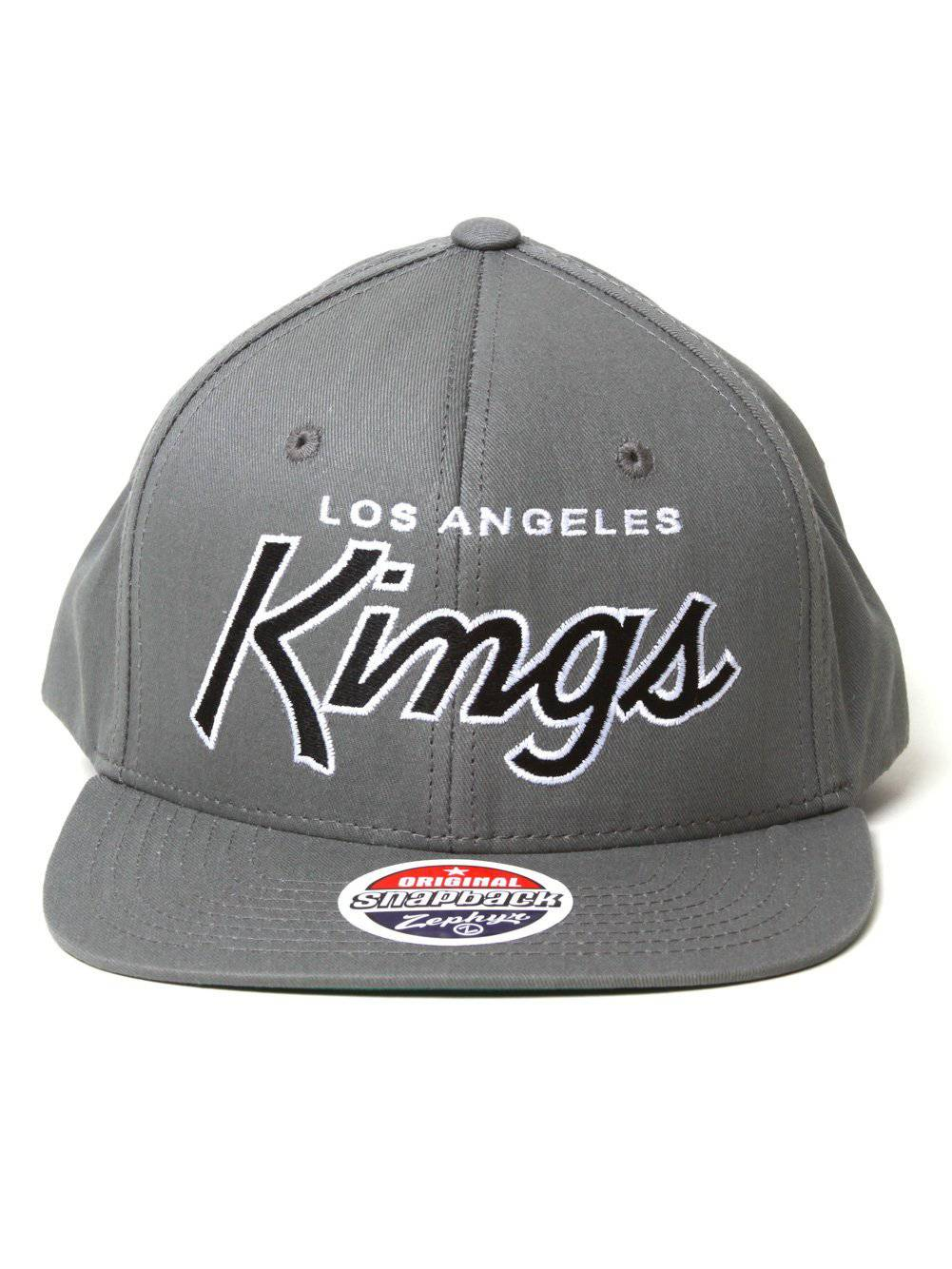 Zephyr NHL Los Angeles Kings Script Snapback Hat 66b1ce5ab7a