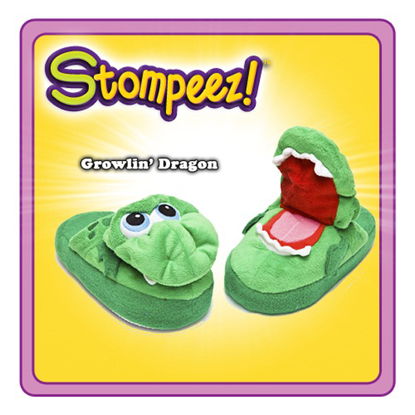 Stompeez! Growling Dragon Slippers