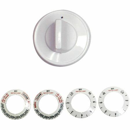 - Range Kleen Single Replacement Knob Kit, White, 10 Pieces