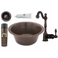 Premier Copper Products - BSP4_BR16DB2-B Bar/Prep Sink, Faucet and Accessories Package