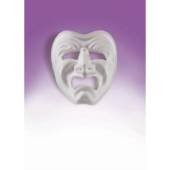 TRAGEDY MASK-WHITE FO-087 (Comedy Tragedy Halloween Masks)