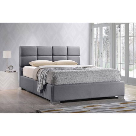 baxton studio sophie modern and contemporary grey fabric upholstered full size platform bed. Black Bedroom Furniture Sets. Home Design Ideas