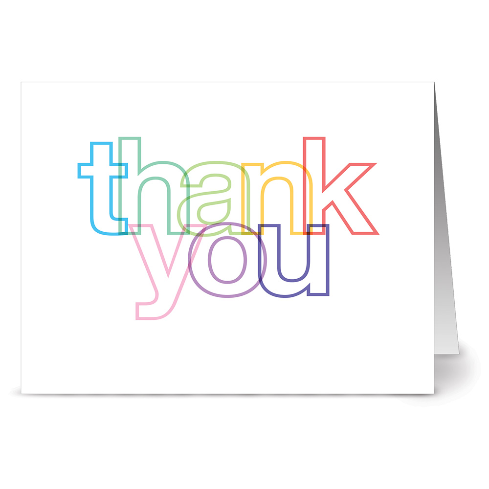 24 Thank You Note Cards Colorful Lined Thank You Blank Cards