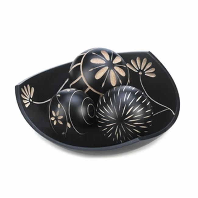 Home Decor Artisan Tri Point Decorative Balls Set