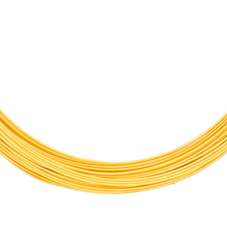 Aluminum Beading Wire, Anodized 18K Gold-Finished 23Gauge 48-foot coil jewelry wire