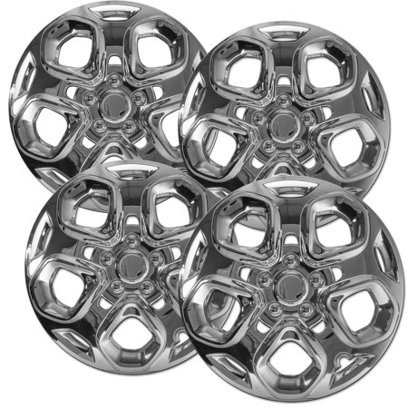 Hubcaps for Ford Fusion (Pack of 4) Wheel Covers - 17 inch Snap On Chrome