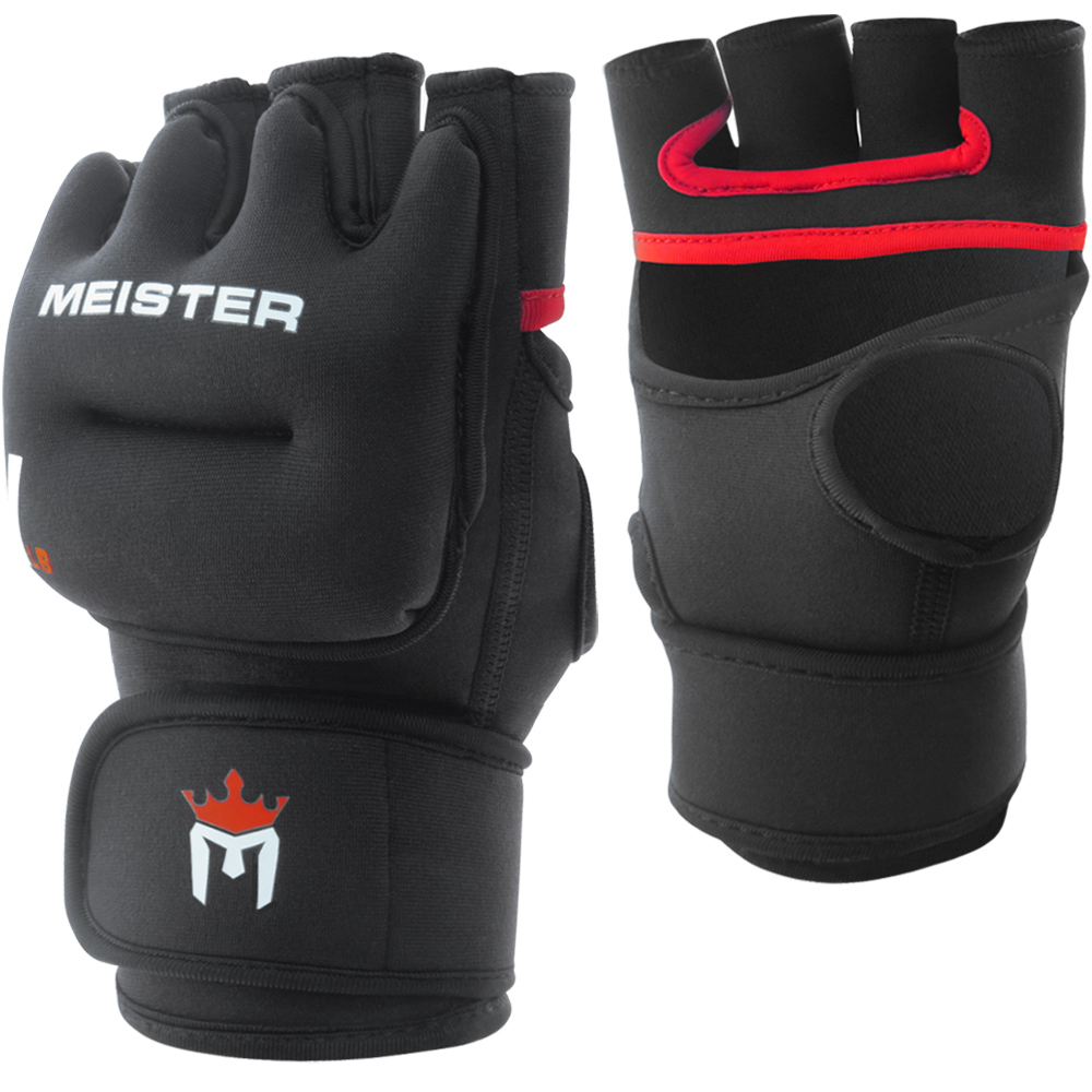 Meister 1LB Weighted Workout Gloves (Pair) - Black