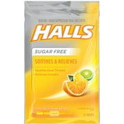 Halls Sugar Free Cough Suppressant Drops, Citrus Blend, 25 Ct